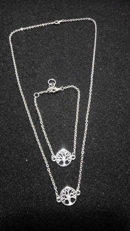 "Halskette & Kettenarmband ""Baum des Lebens"""