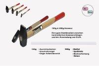 Schlosserhämmer 2´er Set F 100/500g