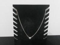 Viergeteilte Halskette Silberfarben mit Ringanhänger...