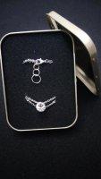 Zweiteiliges Kettenarmband mit Ringanhänger